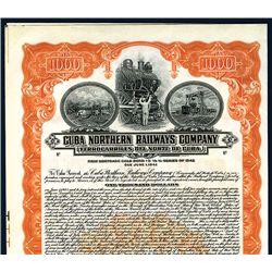 Cuba Northern Railways Co., Specimen Bond.