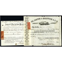 Junction & Breakwater R.R. Co., Issued Stock.