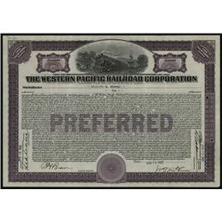 Western Pacific Railroad Corp., Issued Stock.