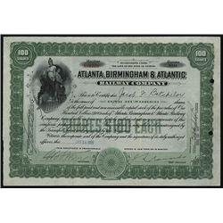 Atlanta, Birmingham & Atlantic Railway Co., Issued Stock.