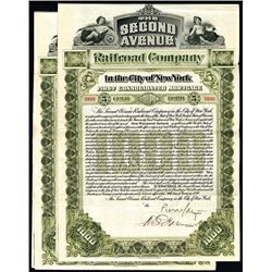 Second Avenue Railroad Co., Issued Bond.