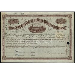 Sixth Avenue Railroad Co., Issued Stock.