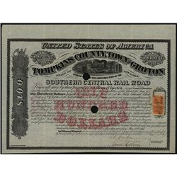 Tompkins County, Town of Groton (Southern Central Rail Road Co.), Issued Bond.