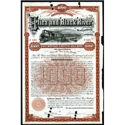 Utica and Black River Railroad Co., Issued Bonds Lot of 35.