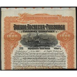 Buffalo, Rochester and Pittsburgh Railway Co., Specimen Bond.
