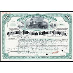 Cleveland and Pittsburgh Railroad Co., Specimen Stock.