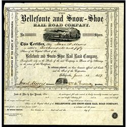 Bellefonte and Snow-Shoe Rail Road Co., Issued Stock.