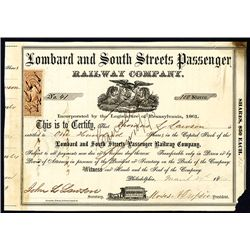 Lombard and South Streets Passenger Railway Co., Issued Stock.
