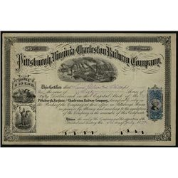 Pittsburgh, Virginia and Charleston Railway Co., Issued Stock.