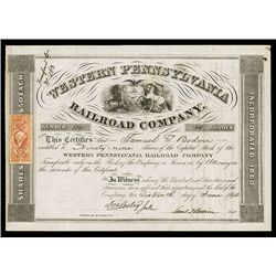 Western Pennsylvania Railroad Co., Issued Stock.