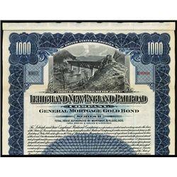 Lehigh and New England Railroad Co., 1914, Specimen Bond.