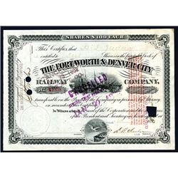 Fort Worth & Denver City Railway Co., Issued Stock.