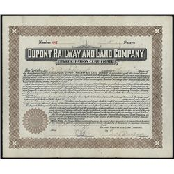 Dupont Railway and Land Co., Issued Stock.