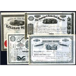 Railroad Stocks and Bonds, Lot of 5 Attractive Certificates.