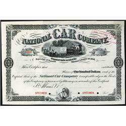National Car Co. Specimen Stock.