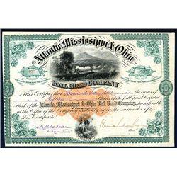 Atlantic, Mississippi & Ohio Railroad Co., Issued Stock.