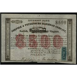 Norfolk & Petersburg Railroad Co., Issued Stock.