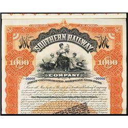 Southern Railway Co. Specimen Bond.