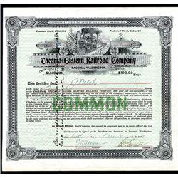 Tacoma Eastern Railroad Co., Issued Stock.