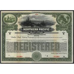Northern Pacific Railway Co., Specimen Bond.