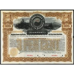 Northern and Pacific Railway Co. Specimen Bond.