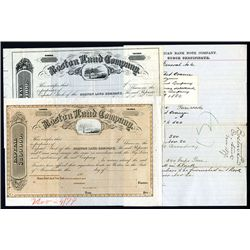 Boston Land Co., Specimen Stock and Proof and ABNC Order Form.