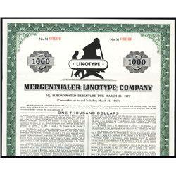 Mergenthaler Linotype Co. Specimen Bond.