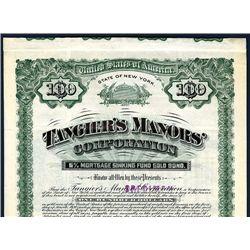 Tangier's Manors' Corp., Specimen Bond.