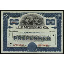J.J. Newberry Co., Specimen Stock.