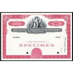 Security-Columbian Banknote Co. Specimen Stock.