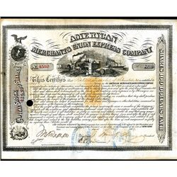 American Merchants Union Express Co., Issued Stock.