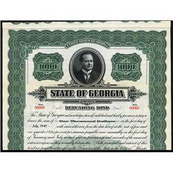 State of Georgia Specimen Bond.