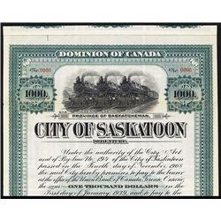 City of Saskatoon Specimen Bond.