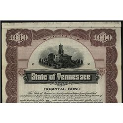 State of Tennessee Specimen Bond.