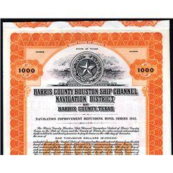 Harris County Houston Ship Channel Navigation District, Specimen Bond.