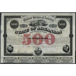 State of Arkansas, Issued Bond.