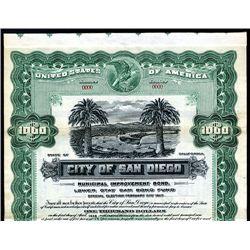 City of San Diego, Specimen Bond.