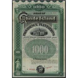 Rhode Island and Providence Plantations, Specimen Bond.