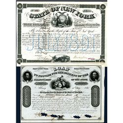 State of New York, Issued Bonds Lot of 2.