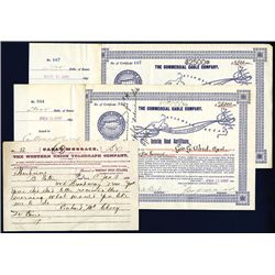 Commercial Cable Co., Issued Bonds Lot of 2.