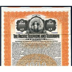 Pacific Telephone and Telegraph Co., Specimen Bond.