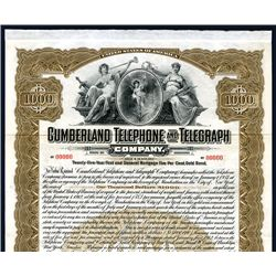 Cumberland Telephone and Telegraph Co., Specimen Bond.