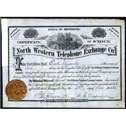 North Western Telephone Exchange Co., Issued Stock.