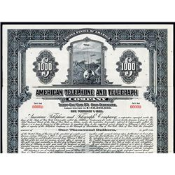 American Telephone and Telegraph Co., Specimen Bond.