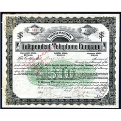 Independent Telephone Co., Issued Stock.