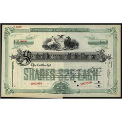 Standard Underground Cable Co., Specimen Stock.