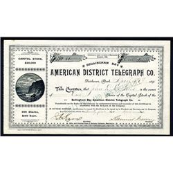 American District Telegraph Co., Issued Stock.