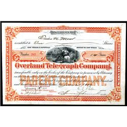 Overland Telegraph Co., Issued Stock.