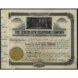 Zenith City Telephone Co., Issued Stock.