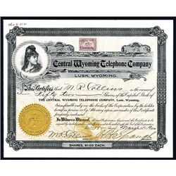 Central Wyoming Telephone Co., Issued Stock.